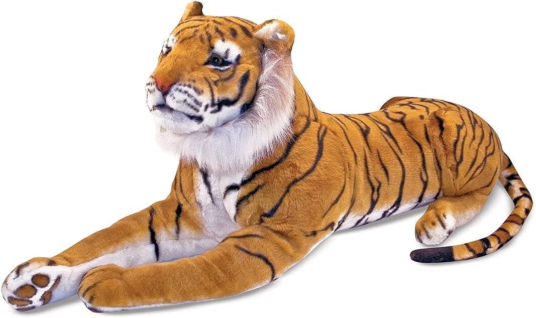 Melissa Doug Giant Tiger Japan Maker New Quantity limited - Lifelike over Stuffed fee Animal 5