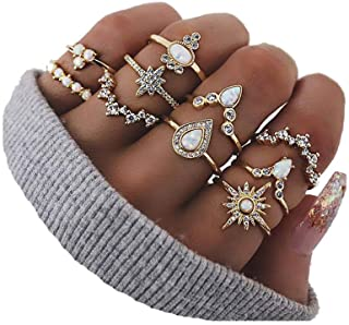 CSIYAN 6-16 PCS Knuckle Stacking Rings for Women Teen...