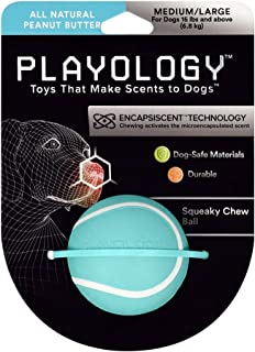Playology All-Natural Scented Squeaky Chew Ball