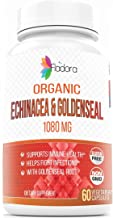 Organic Echinacea and Goldenseal, 1080mg (Healthy Immune Function & Wellness Formula) 60 Vegetarian Capsules by Fladora, Herbal Multivitamin Supplement - Non-GMO, Gluten-Free