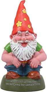 Ebros Butt Naked Defecating Fertilizers Organically Pooping Hippie Gnome Statue 12