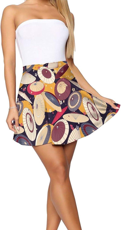 Cute Red Panda and Raccoon Women's Skater Skirt Fashion Short Skirt
