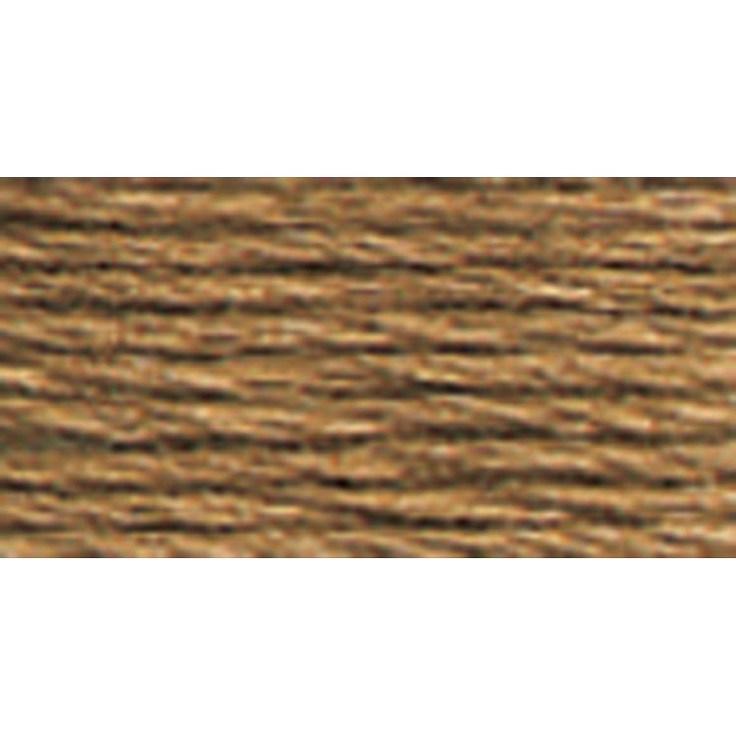 DMC 117-3863 Mouline Stranded Cotton Six Strand Embroidery Floss Thread, Medium Mocha Beige, 8.7-Yard