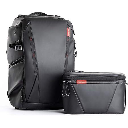 PGYTECH OneMo Camera Backpack 25L with Shoulder Bag for DJI Air 2S, DJI FPV, Sony, Canon, Nikon, Drone, DJI Mavic Mini 2/Air 2, OSMO Action/Pocket, DSLR/SLR Mirrorless, Camera Tripod