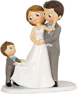 Mopec Y967 Figura de pastel de boda novios s/í o s/í tirando de la chaqueta 19 cm