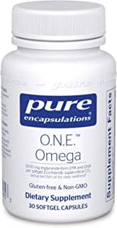 Pure Encapsulations - O.N.E. Omega - Fish Oil Capsules to Support Cardiovascular, Joint, Cognitive, and Ski...
