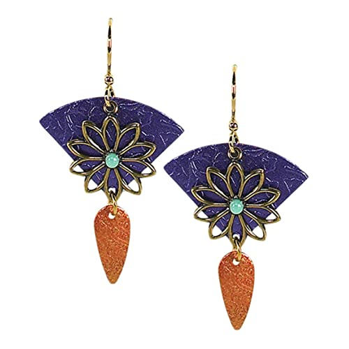 149746197 Jody Coyote Earrings QN316-01 Carnival Collection purple turquoise gold  dangle