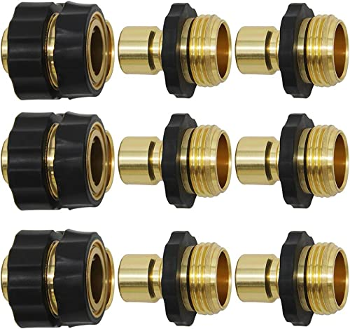 high quality Twinkle Star 3/4 Inch Garden Hose Quick Connector Water high quality Hose Fitting Male and Female, 9 online sale of Set online