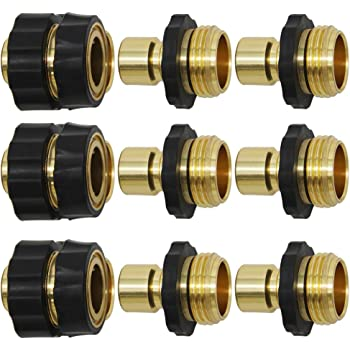 Threaded Brass Construction NPT 3//4Female x 3//4Female x 1//2Female x 1//2Female Cross Inside for Repair