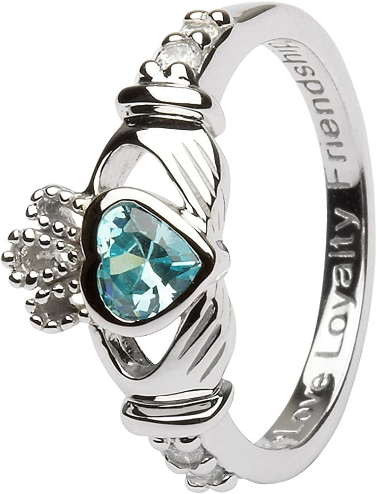 March Birth Month Sterling Silver Max 60% OFF Made Claddagh LS-SL90-3. Direct sale of manufacturer Ring