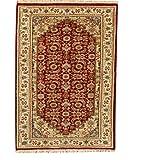 TrendyLiving4U Kurzflor-Designer Teppich extra weich fürs Wohnzimmer, Schlafzimmer, Esszimmer oder Kinderzimmer Bidjar Klasisch Handarbeit 62x125CM Rot - 3