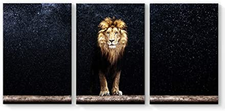 SIGNFORD Canvas Wall Art King of Forest Lion Canvas Painting Wall Poster Decor for Living Room Framed Home Decorations - 24