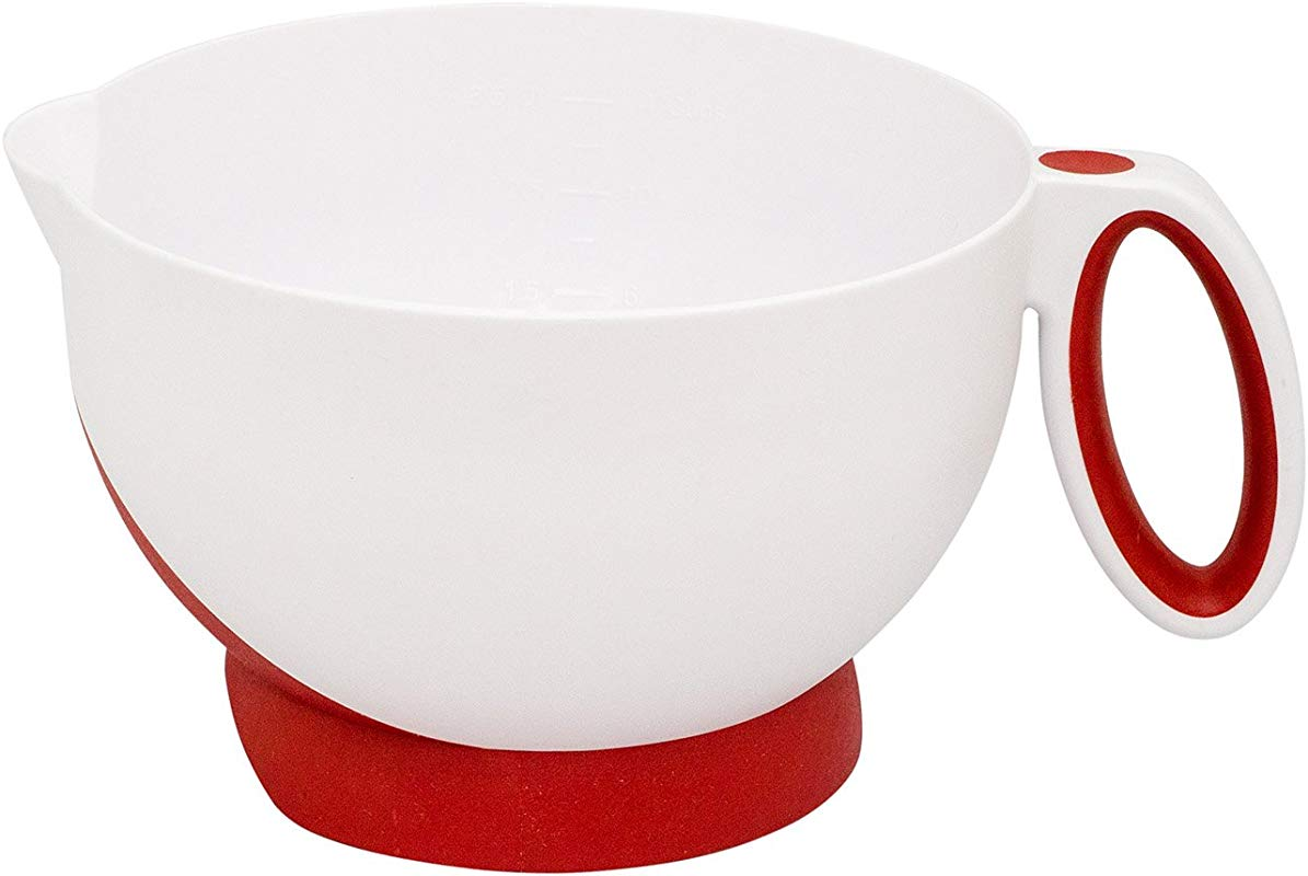 Cuisipro Deluxe Batter Bowl Mixing With Handle And Measurements Red