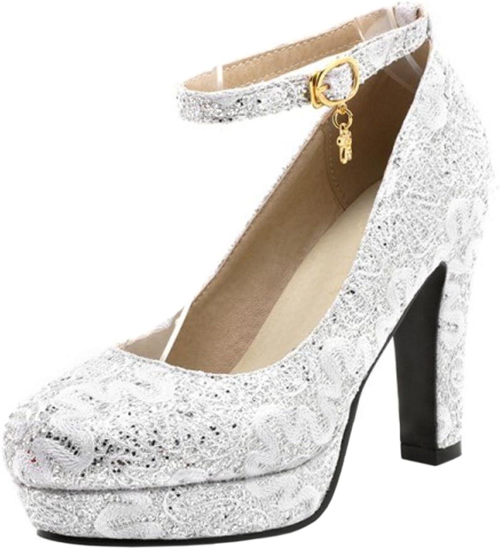 TAOFFEN Women's Party Wedding shoes Heels