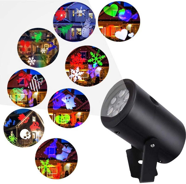 Mini RGB LED Bühnenlicht Projektor Lampe Bühnenbeleuchtung Party Licht Weihnachten Dekorative US-Stecker