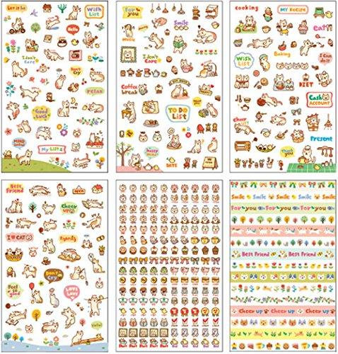 iTemer - Scrapbooking für Kinder in Assorted Color, Größe 6 pcs Chat Stickers