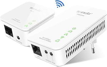 Tenda Pw201A+Pw200 Adaptadores De Comunicación por Línea Eléctrica (Av200 WiFi, PLC, Powerline Alta Velocidad 300Mbps, Puerto Ethernet)
