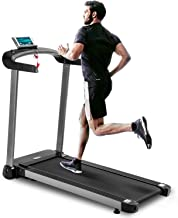 Merax Electric Folding Treadmill, Light Commercial Treadmill,Walking Running Jogging Machine with Speakers for Home Exercise, Easy Assembly Treadmill with Bolder Colum and Thicker Running Board