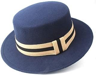 2019 Mens Womens Hats Unisex Men Women Flat Top Hat Autumn Pop Church Travel Hat Flat Top Hat Wide Brim Fedora Hat Pork Pie Hat Hat Wool Trilby Jazz Hat Size 56-58CM