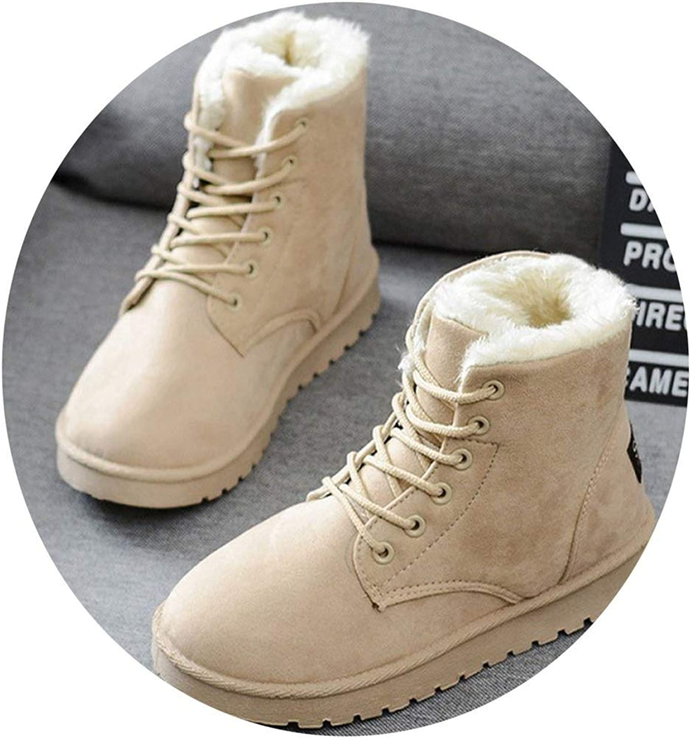 Women Boots Warm Winter Boots Female Fashion Women shoes Faux Suede Ankle Boots