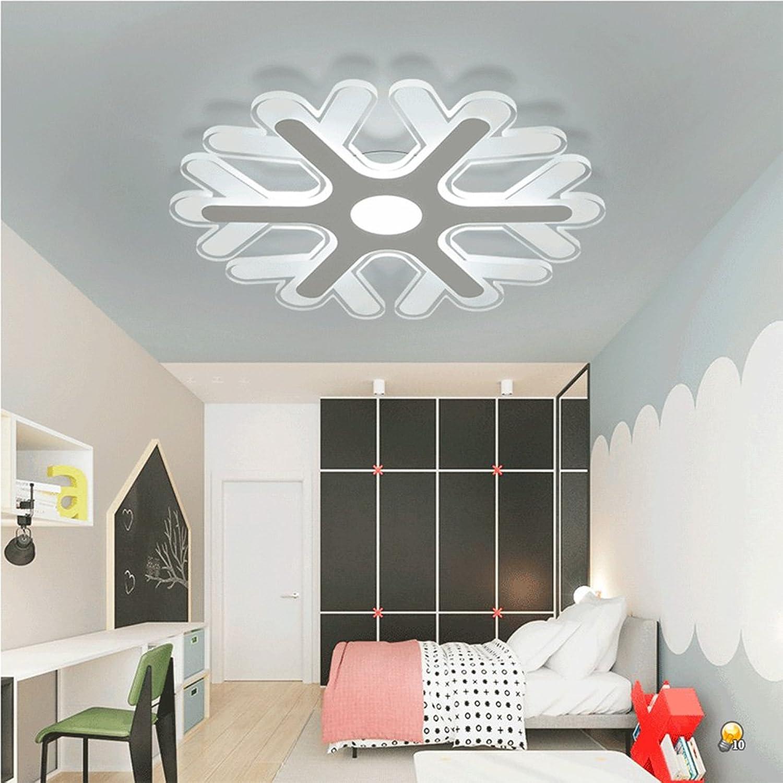 QLIGHA LED Deckenleuchte Moderne Ultra Thin Acryl Schneeflocke Geformt Wohnzimmer Schlafzimmer Kinderzimmer Dimmen Beleuchtung,Dimming,20204Cm_18W
