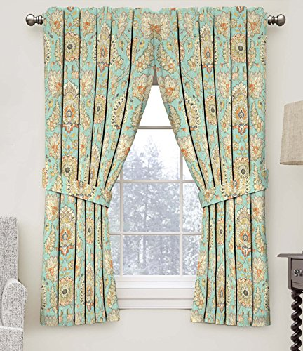 "Waverly Chifton Hall Rod Pocket Curtains for Living Room, Single Panel, 52"" x 84"", Opal"