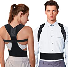 OMERIL Upgrade Posture Corrector, Full Shoulder & Back Posture Support for Women and Men, Adjustable Posture Trainer Brace Spinal Support for Improve Bad Posture, Shoulder, Back, Neck Pain Relief