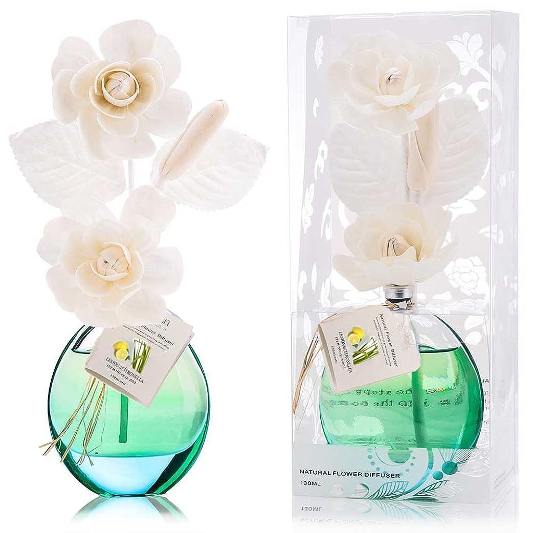 撤回するアセンブリ女性誕生日 プレゼント に A03 ルームフレグランス (花瓶:緑色、香り:レモン&レモングラス)