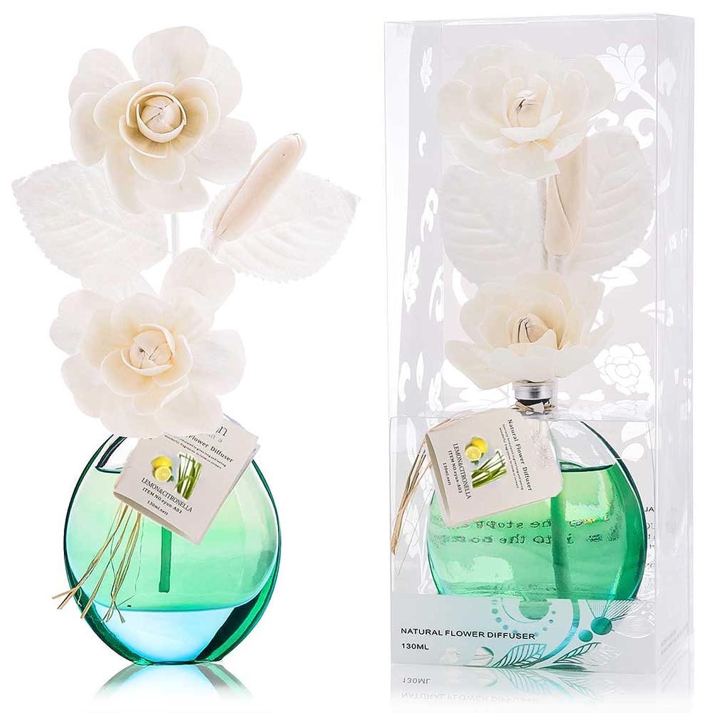 反乱厚くする仲間、同僚誕生日 プレゼント に A03 ルームフレグランス (花瓶:緑色、香り:レモン&レモングラス)