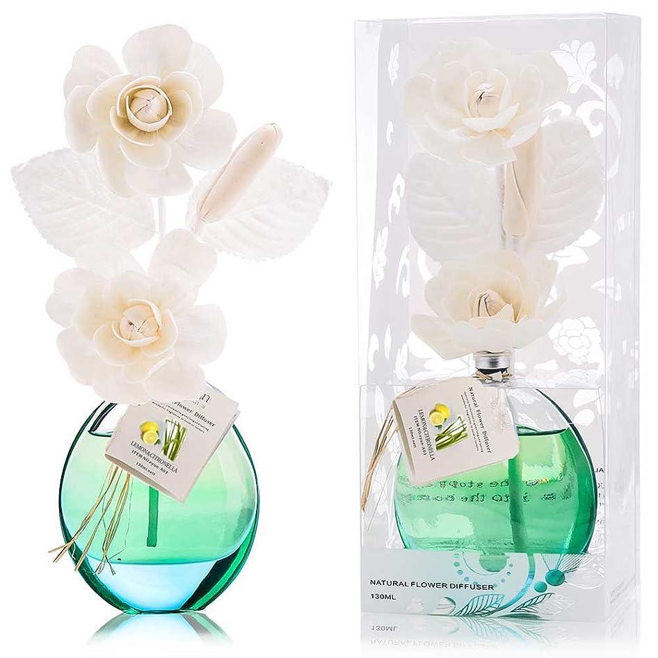 生きている困惑実行する誕生日 プレゼント に A03 ルームフレグランス (花瓶:緑色、香り:レモン&レモングラス)