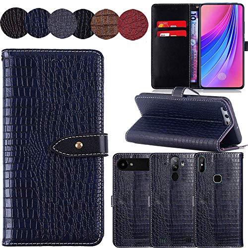 QHTTN Muster Premium Blau Leder Tasche Hülle Für Elephone S1 5