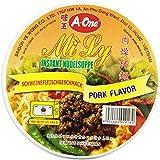 A-ONE Fideos Instantáneos En Vaso, Sabor Carne Cerdo 65 g
