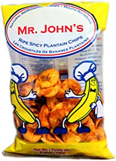 MR. JOHN'S Ripe Spicy Plantain Chips - Chewy & Crunchy - Gluten Free, Natural Ingredients & MSG Free (150gm, 5 Pack)