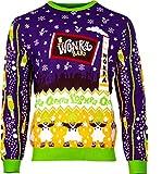 Numskull Unisex Ufficiale Charlie And The Chocolate Factory Maglione di Natale a Maglia per Uomini o Donne - Brutto Regalo di Maglione della novità