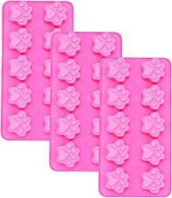 Silicone Mini Paw Flexible Mold Candy Making Mold Dog Puppy Treat Cookie Pet Set of 3