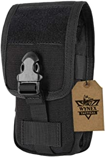 WYNEX Cell Phone Holster Pouch, Tactical Smartphone Pouches EDC Cellphone Case Molle Gadget Bag Molle Attachment Belt Holder Waist Bag Applicable Most Type
