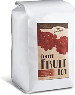 Coffee Fruit Tea - Cascara - superfood with antioxidants - 1lb - WHOLE DRIED COFFEE FRUIT for cold or hot brew - by Twin E...