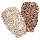 2 guantes exfoliantes, guantes de masaje para el baño, guantes de ducha para exfoliar y limpiadores corporales, respetuosos con el medio ambiente, herramientas exfoliantes