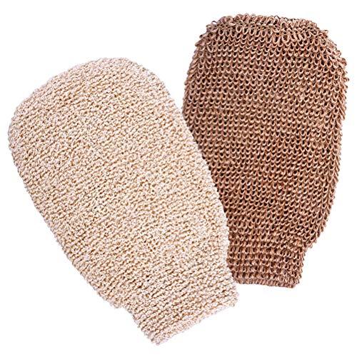 2 Stück Peelinghandschuh, Massagehandschuh Bad Duschhandschuhe Handschuhe für Peeling und Körperwäscher Umweltfreundliche Peeling Werkzeuge