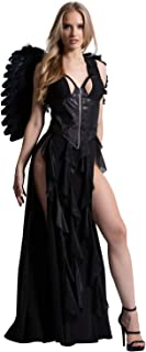 Yandy Exclusive Sexy Halloween Dark Angel Costume Featuring a Black Dress