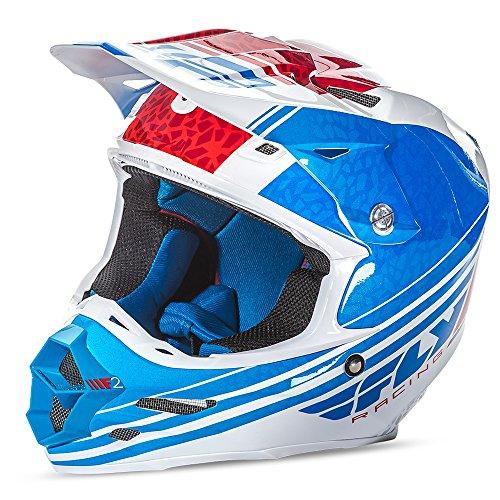 Fly Racing Helm F2 Carbon Blau Gr. S