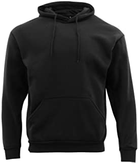 Fresh Idea Living Adult Men's Unisex Basic Plain Hoodie Jumper Pullover Sweater Sweatshirt XS-5XL