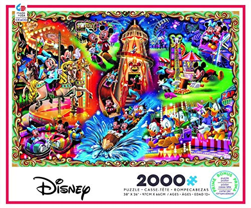 Disney Ceaco Mickey Mouse & Friends Carnival Jigsaw Puzzle - 2000pc