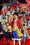 qwermz One Piece Puzzle per Adulti, Puzzle in Legno da 1000 Pezzi, Gioco di Giocattoli per l'educazione precoce A06