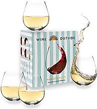 Wine Outside Unbreakable Wine Glasses Dishwasher-Proof | Set of 4 | 18 oz. Elegant Plastic Stemless Wine Glass | Reusable ...