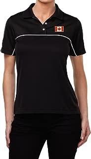 Buy Cool Shirts Canada Flag Patch Pocket Print Ladies Polo Shirt