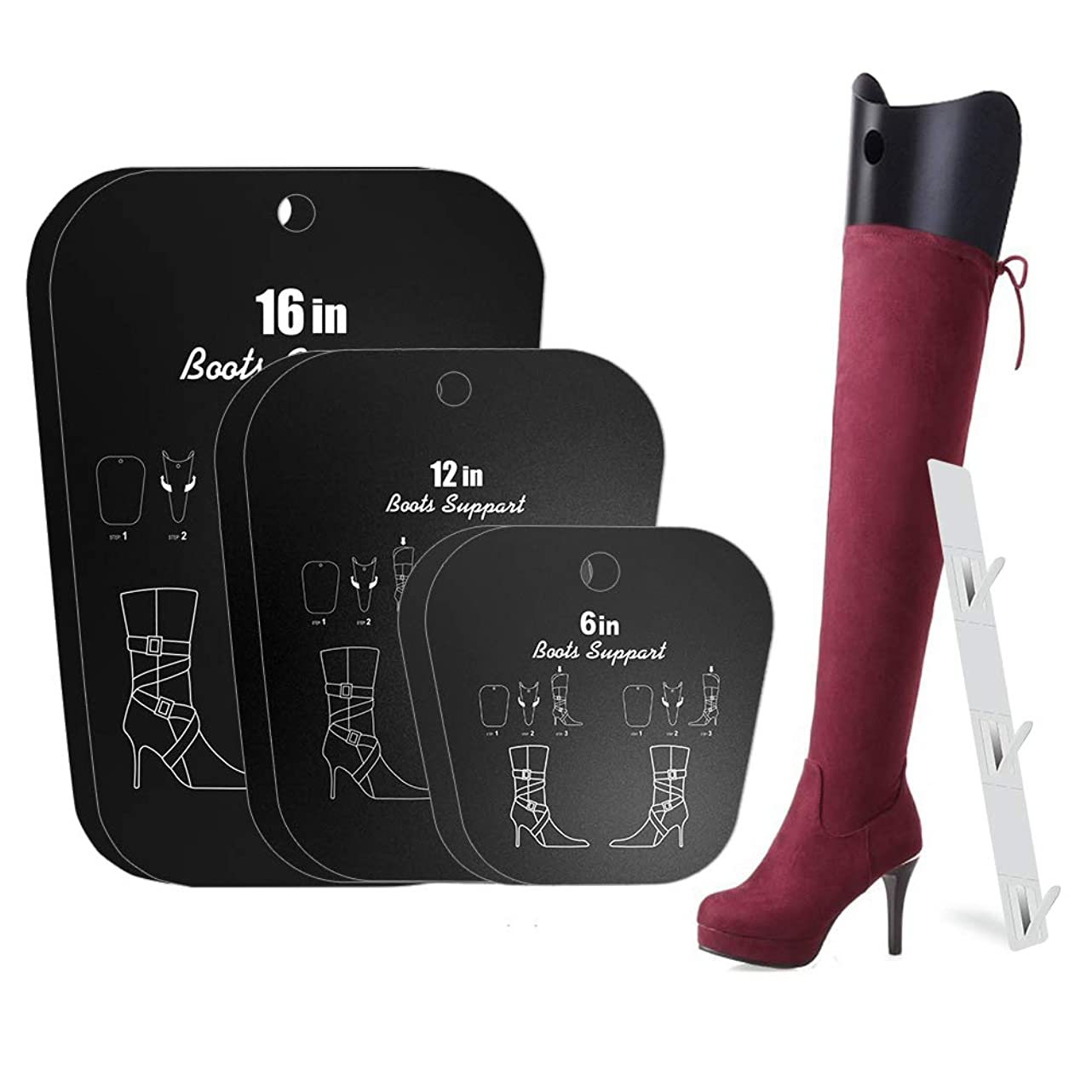 MaiHongda Boot Shaper Form Inserts Tall Boots Support for Men Women wjw781288913945