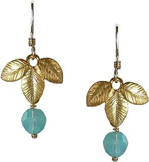 Sosie Designs Golden Three Leaf Earrings SD-3LEAF