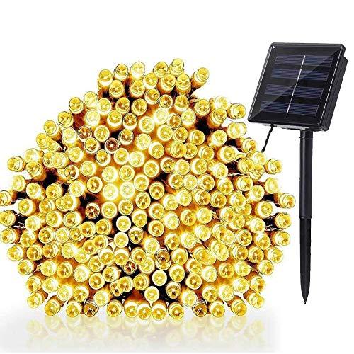 NEXVIN Solar Lichterkette Außen, 20M 200 LED Solar Lichterkette Aussen Wasserdichte, 8 Modi Solar Außenlichterkette Deko für Garten, Terrasse, Balkon, Hochzeit (Warmweiß)
