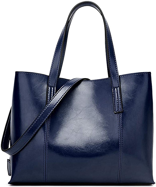 Sturdy New Fashion Handbag Trend Ladies Handbag Simple Shoulder Messenger Handbag Large Capacity (color   Dark blueee)